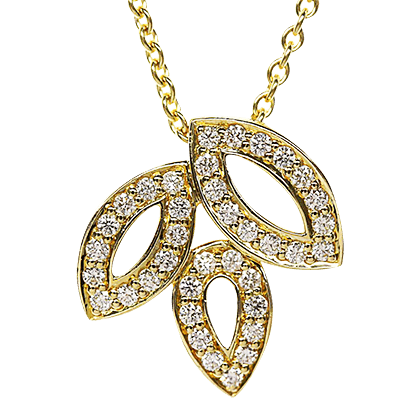 ハリーウィンストン リリークラスター ダイヤモンド ネックレス 美品