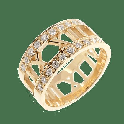 ティファニー アトラス ダイヤモンド オープンリング 美品