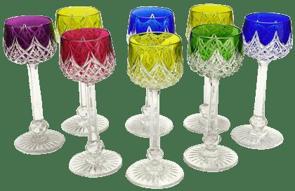バカラカットグラス マルチカラー セット 未使用品