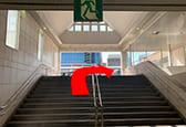 JR西宮駅出口の階段