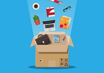 買取商品の梱包発送