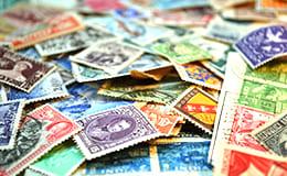 大量の中国切手