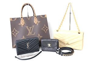 ルイヴィトン・シャネル・サンローランのバッグ