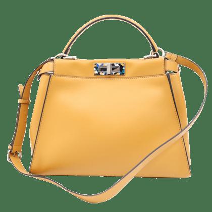 フェンディのカーフレザーのピーカブーハンドバッグ