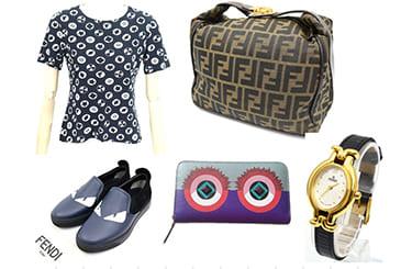 服や靴、バッグや財布などでフェンディ製品