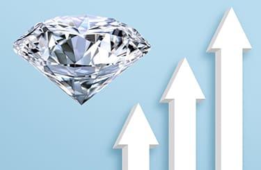 ダイヤモンと伸びる矢印