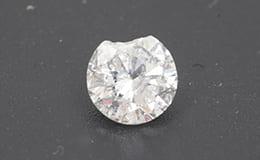 欠けているダイヤモンド