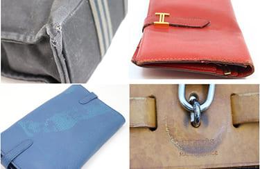 ダメージのあるエルメスのバッグや財布