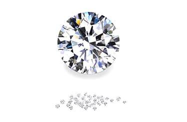 大きいダイヤとメレダイヤ