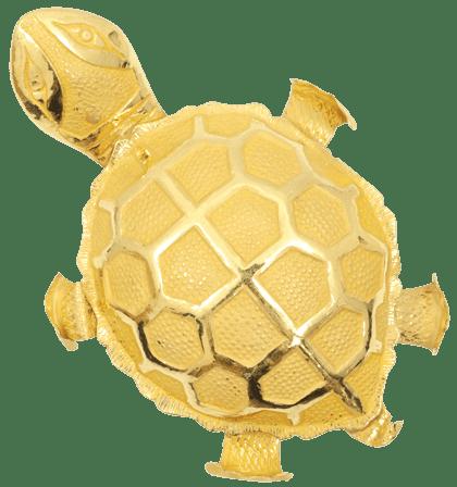 純金の亀の置物
