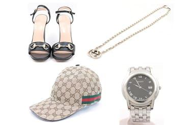 グッチの帽子・靴・ネックレス・時計