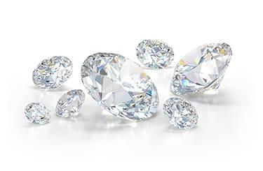 大小いろいろなダイヤモンド