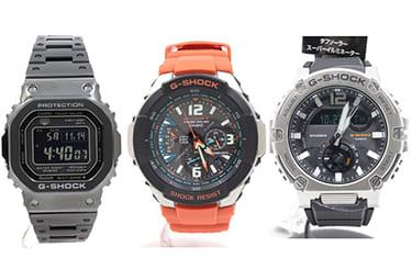 Gショックの色々なモデル腕時計