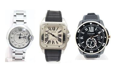 カルティエ腕時計サントス・バロンブルー・カリブル