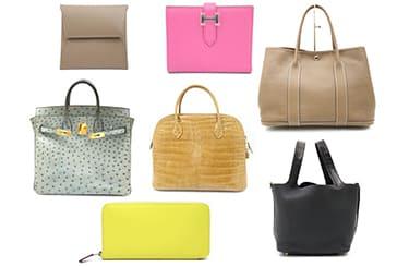 エルメスのレザーバッグと財布