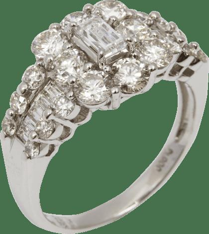 ダイヤモンド リング Pt900 3ct 8.4g