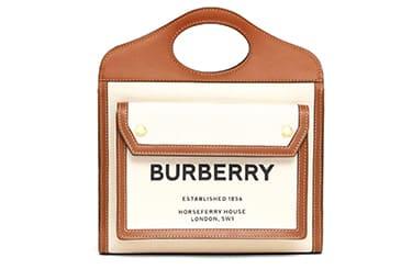 バーバリーの限定カバスハンドバッグ