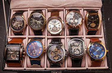 沢山のブランド腕時計