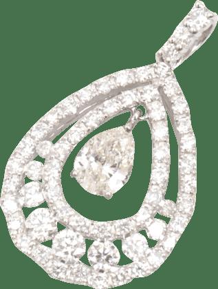 ダイヤモンド D0.3ct D1.21ct Pt900 ペンダントトップ