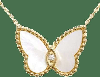 ヴァンクリーフ&アーペル パピヨン ダイヤモンド ネックレス 18K