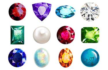 様々種類の宝石