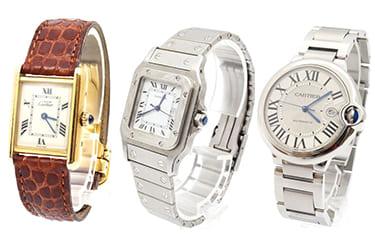カルティエ時計も高価買取