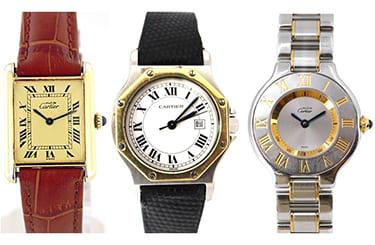カルティエ古い時計も買取可能