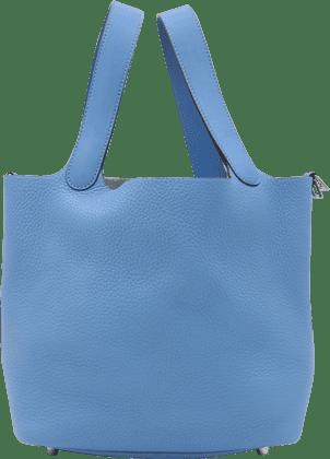 エルメス ピコタンロックPM トリヨン ブルー ハンドバッグ Y刻印 シルバー金具