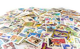 バラバラの切手