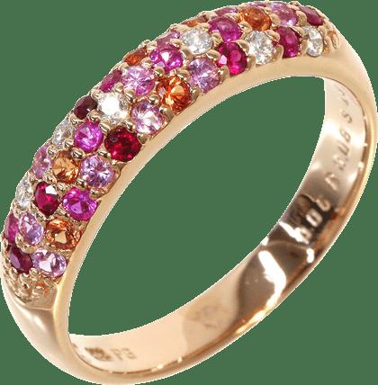 ポンテヴェキオ ダイヤ ピンクサファイア リング K18