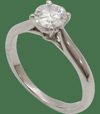 婚約指輪 ダイヤモンド リング Pt900 D0.51ct VVS2 D イニシャル・日付あり