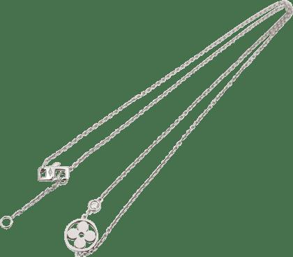 ルイヴィトン パンダンティフ モノグラム イディール ダイヤモンド ネックレス K18WG Q93279