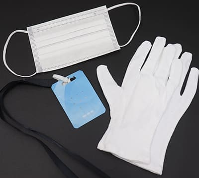 マスク、白手袋